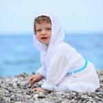 Baby on the beach — Stock Photo
