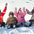 kinderen in de winter — Stockfoto