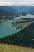 Blick vom zwolferhorn am wolfgangsee — Stockfoto