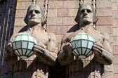 Statues at the Railway Station. Helsinki, Finland — Stock Photo
