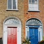 Dublin facade. Ireland — Stock Photo