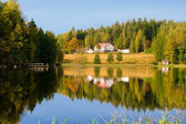 Lake. herfst. finland — Stockfoto