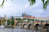 Prague Castle and Charles Bridge in Prague — Stock Photo