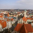 Aerial view of the old town of Munich, Germany - Stock Photo