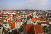 Aerial view of the old town of Munich, Germany — Stock Photo