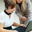 Two women working — Stock Photo #7022604