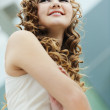 Portrait long-haired girl — Stock Photo #7022607