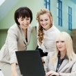 Three business woman - Stock Photo