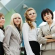 Four attractive business woman — Stock Photo
