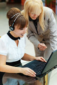 Two women working — Stock Photo