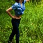 Beautiful young woman distance — Stock Photo #7390500