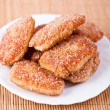 Fried cutlet in bread crumbs — Stock Photo