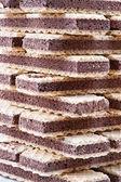 Crunchy chocolate waffle — Stock Photo