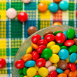 colored chocolate candy — Stock Photo