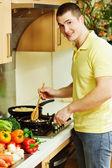 Erkek aşçı — Stok fotoğraf