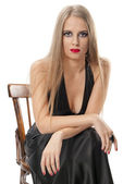 Beautiful woman with evening make-up. Fashion photo — Stock Photo