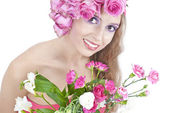 çiçekler güzel bayan — Stok fotoğraf