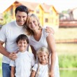 Smiling family - Stockfoto