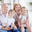 Grandparents with grandchildren — Stock Photo