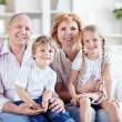 Grandparents with grandchildren - Stockfoto