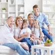 Stock Photo: Big family