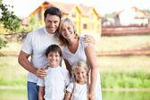 улыбаясь семьи — Стоковое фото