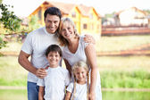 Smiling family — Foto Stock
