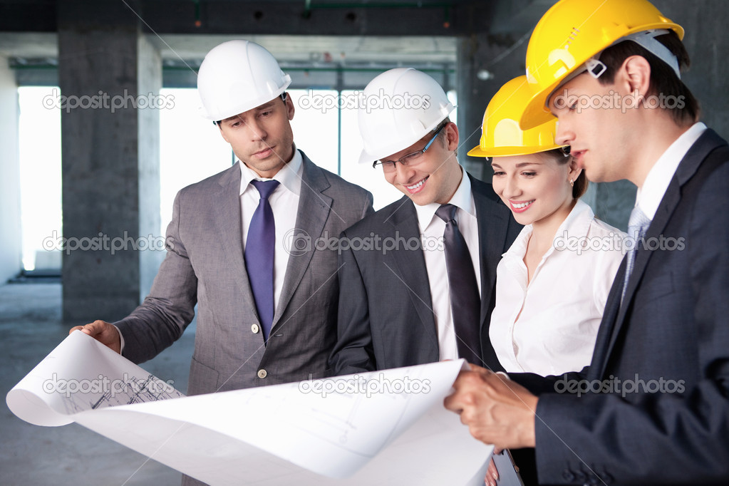 Business at a construction site — Stock Photo #6885633