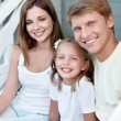 Family with a child — Stock Photo