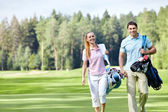 On the golf course — Stock Photo