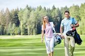 På golfbanan — Stockfoto