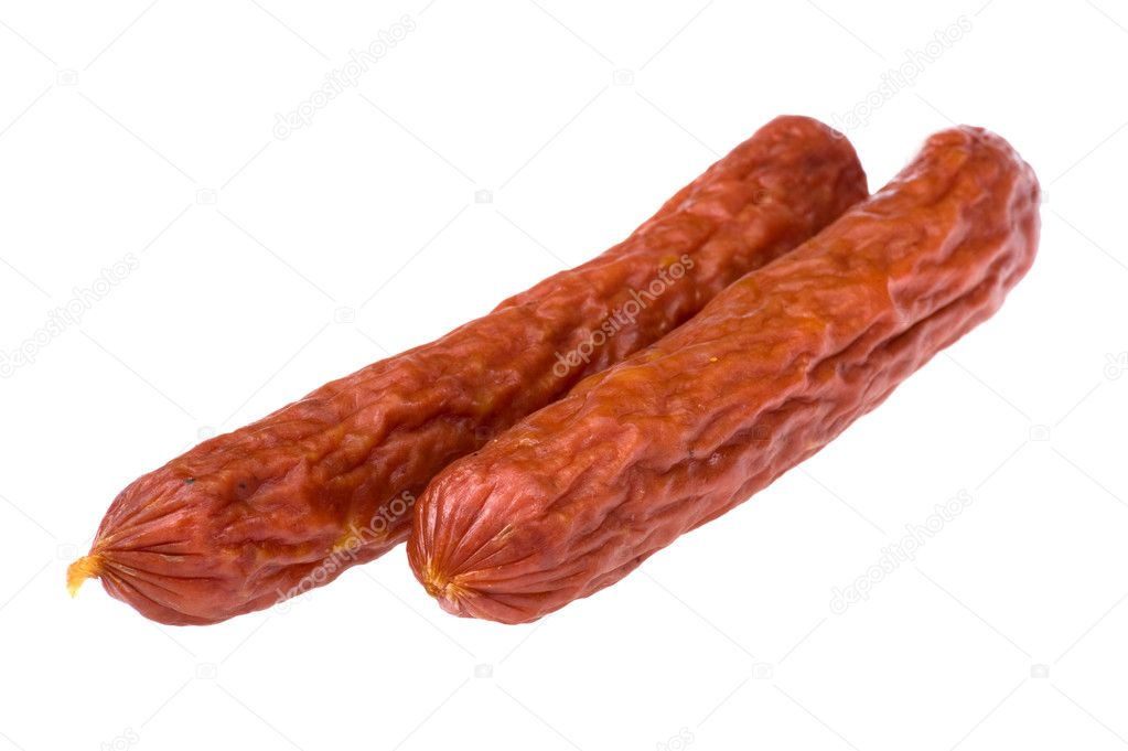 Object on white - food sausage close up — Stock Photo #6785785