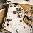 Mechanism clockwork macro — Stock Photo