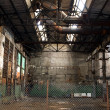 Empty abandoned factory - Stock Photo