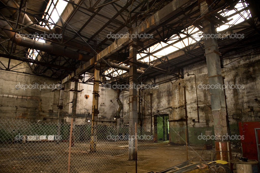 Empty abandoned factory - prepared for demolition  Stock Photo #6916067