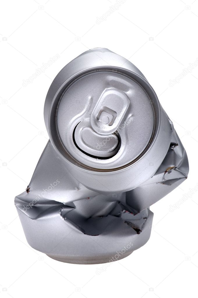 Object on white - Crumpled beverage can — Stock Photo #7630669