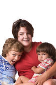 Portrait mothers with children close up — Stock Photo