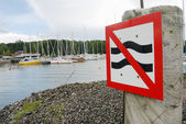 Parking sign at the harbor — Stock Photo