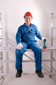 An electrician working — Stock Photo