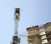 House develop with crane at day — Stock Photo
