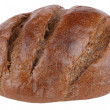 Stock Photo: Dark bread on isolated