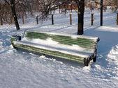 Banco all'inverno — Foto Stock