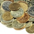 Scattering of coins — Stock Photo