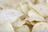 Potato chips horizontal texture — Stock Photo
