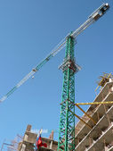 House develop with crane — Stock Photo