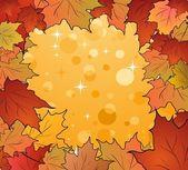Podzimní rám javory — Stock vektor