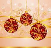 Pozadí abstraktní s vánoční koule — Stock vektor