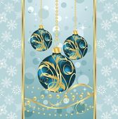 Christmas background with set balls — Stockvektor