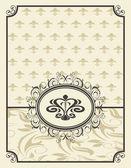花のフレームとビンテージ背景 — ストックベクタ