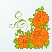 Lindas flores naranjas aisladas — Vector de stock